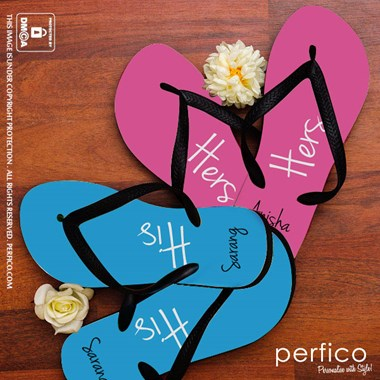 His and Hers Personalized Flip Flops