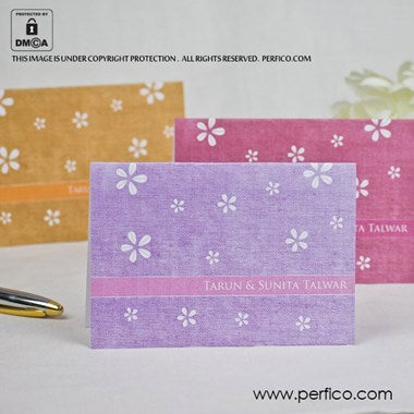 Floral Jute Personalized Greeting Cards