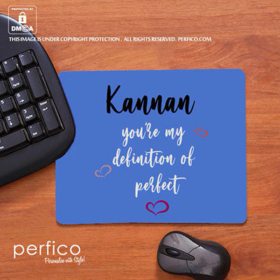 Definition of Perfect © Personalised Mouse Pad for Husband