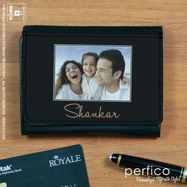Picture Perfect Personalized Leather Wallet for Men
