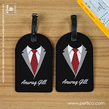 Mr Perfect Luggage Tag