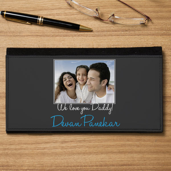 Personalized Chequebook Holder