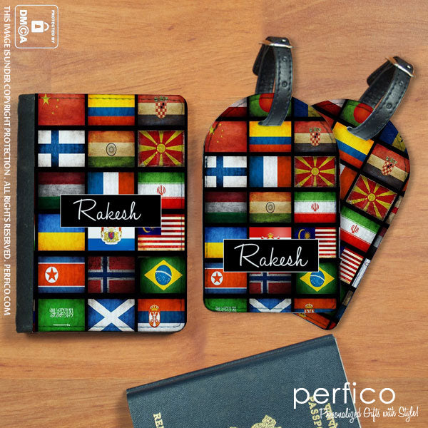 Personalized Passport Holder & Luggage Tags
