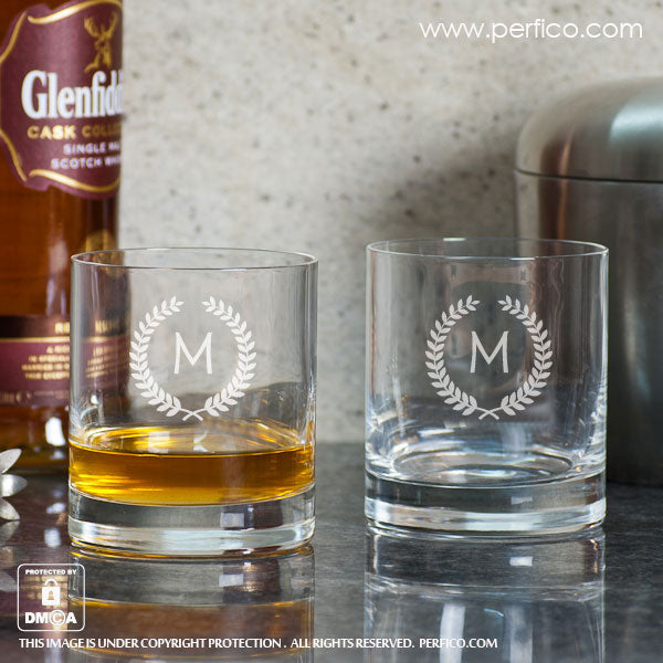 Personalized Whiskey Glasses gift for dad