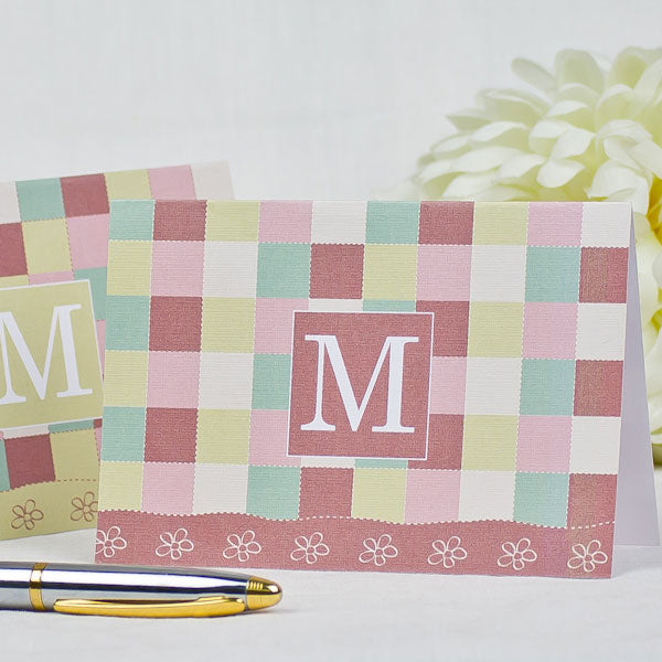 Plaid Monogram - Personalized Friendship Day Greeting Cards