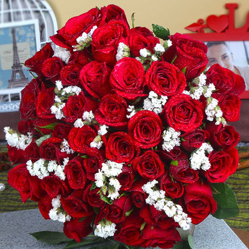 Red Roses Bouquet - Gift for girl friend