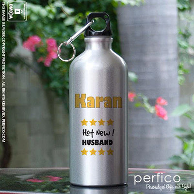 Hot New Husband © Personalized Water Bottle