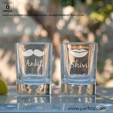 His and Hers Personalized Shot Glasses
