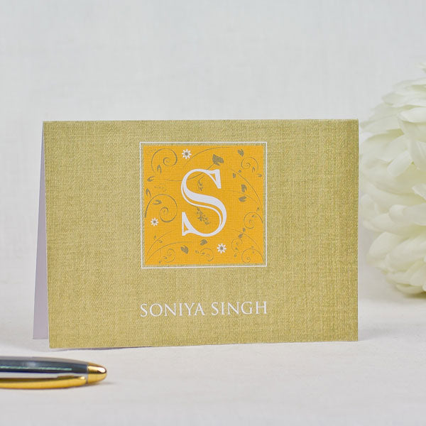 Square Monogram-Personalized Greeting Cards