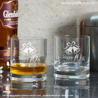 Happy Anniversary Personalized Whisky Glass