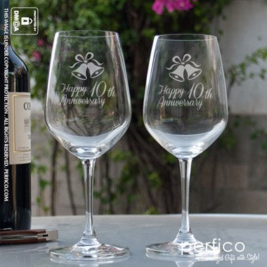 Happy Anniversary Personalized Wine Glass
