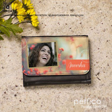 Happy Anniversary Personalized Wallet for Women