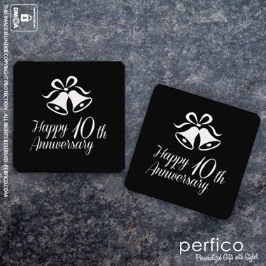 Happy Anniversary Personalized Coasters