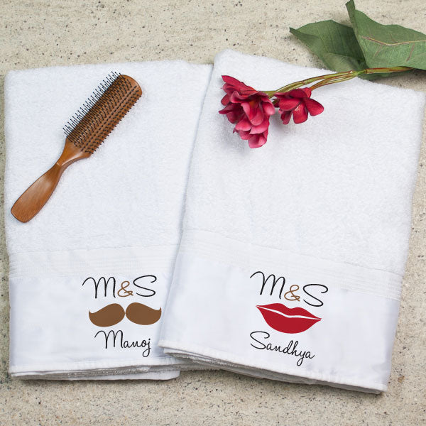 Best Return Gift Ideas for Anniversary - Towels for Couples