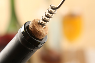 Remove Cork from Wine