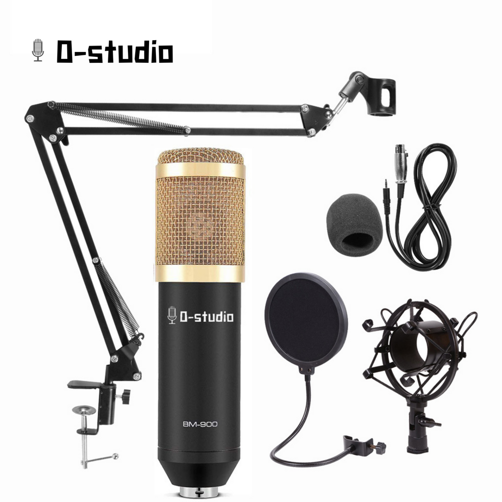 0-studio BM-900 Cardioid Condenser Microphone  (BLACK FRIDAY 50% OFF CODE at CHECKOUT: W0FAG347FVZC)