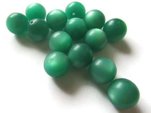 11mm Round Green Beads Vintage Beads Moonglow Lucite Bead Loose Beads Jewelry Making Beading Supplies New Old Stock Bead Ball Beads