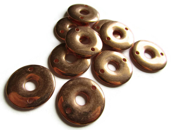 23mm Vintage Red Copper Beads Round Donut Beads Copper Plated Plastic Beads Ring Beads Jewelry Making Beading Supplies Loose Beads