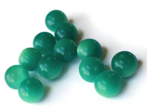 14mm Round Green Beads Vintage Beads Moonglow Lucite Beads Jewelry Making New Old Stock Craft Supplies Green Lucite Beads Moon Glow Bead