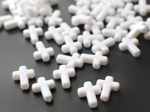 16mm Cross Beads White Cross Beads Plastic Crosses Christian Beads Jewelry Making Beading Supplies Acrylic Cross Beads Smileyboy