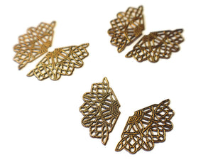 Filigree Findings Metal Wing Charms Antique Copper Plated Finding Filigree Charms Filigree Wing Charms Jewelry Making Wings Bead