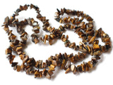 Small and Medium Tiger Eye Beads Stone Chips 34 Inch Bead Strand Chip Beads Loose Beads Gemstone Beads Jewelry Making Beading Supplies