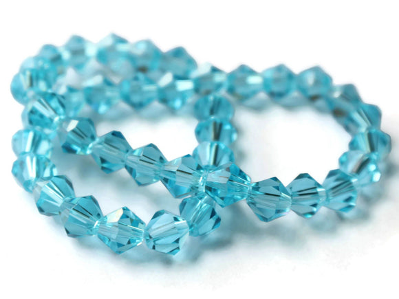 Sky Blue Crystal Beads Faceted Beads 8mm Bicone Beads Full Strand Beads Jewelry Making Beads Beading Supplies Sparkle Beads Loose Beads