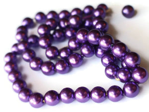 8mm Purple Pearls Vintage Beads Plastic Pearls Faux Pearl Beads Fake Pearls Jewelry Making Beading Supplies