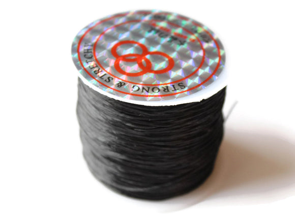 196 Feet Stretchy Cord 0.8mm Black Elastic Thread 60 Meters per roll of String Beading Supplies Stretch Elastic Wire Cord Jewelry Making