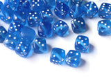 50 Blue Dice Beads 8mm Cube Beads Plastic Six Sided Dice Plastic Dice Beads Acrylic Cube Beads Loose Beads Jewelry Making Beading Supplies