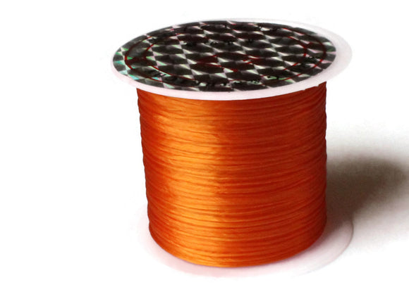 Orange Elastic Cord 0.8mm Elastic Thread 10 Meters per roll of Beading Elastic Wire Beading Cord 10 M Thread Stretchy Cord