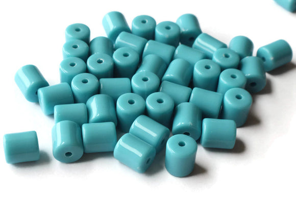 9mm Blue Tube Beads Acrylic Tube Beads Plastic Tube Beads Lightweight Beads Loose Beads Jewelry Making Craft Supplies Smileyboy
