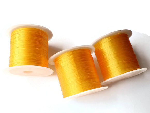 Golden Yellow Elastic Cord 0.8mm Elastic Thread 10 Meters per roll of Beading Elastic Wire Beading Cord Thread Stretchy Cord
