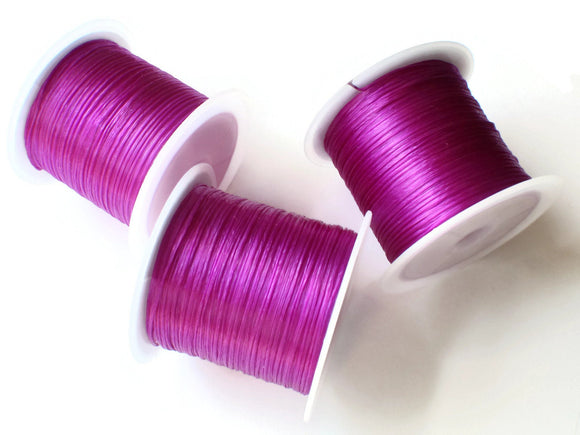 Purple Elastic Cord 0.8mm Elastic Thread 10 Meters per roll of Beading Elastic Wire Beading Cord Thread Stretchy Cord