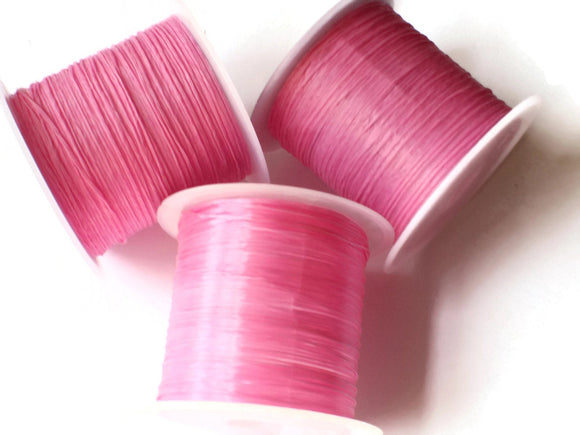 Bubblegum Pink Elastic Cord 0.8mm Elastic Thread 10 Meters per roll of Beading Elastic Wire Beading Cord Thread Stretchy Cord