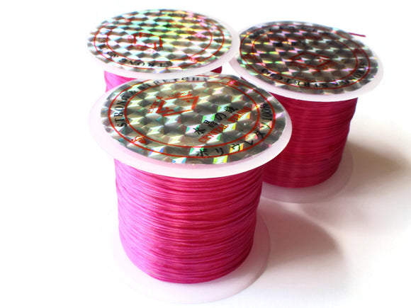 Bright Purple Elastic Cord 0.8mm Elastic Thread 10 Meters per roll of Beading Elastic Wire Beading Cord Thread Stretchy Cord