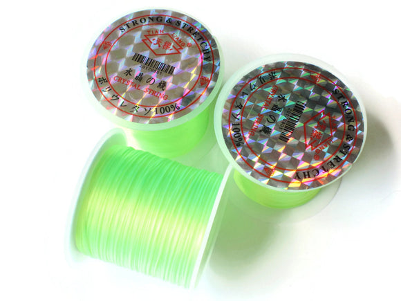 Neon Green Elastic Cord 0.8mm Elastic Thread 10 Meters per roll of Beading Elastic Wire Beading Cord Thread Stretchy Cord