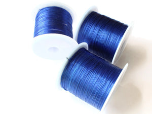 Dark Blue Elastic Cord 0.8mm Elastic Thread 10 Meters per roll of Beading Elastic Wire Beading Cord Thread Stretchy Cord