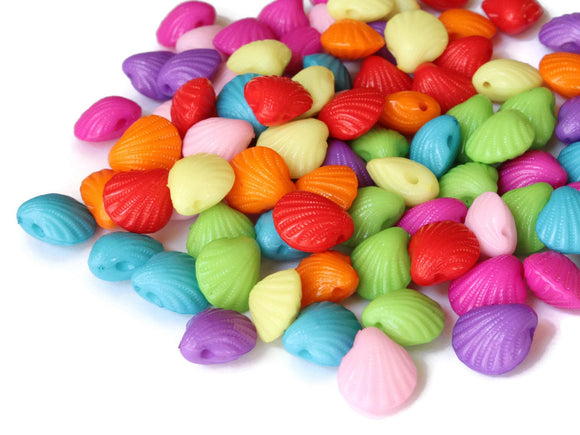 12mm Multi-Color Plastic Shell Beads Oyster Shell Beads Jewelry Making Beading Supplies Beach Beads Mermaid Beads Seashell Beads