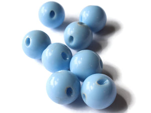 12mm 1/2 Inch Sky Blue Ball Buttons Opaque Lucite Round Buttons Vintage Lucite Button Jewelry Making Beading Supplies Sewing Supplies
