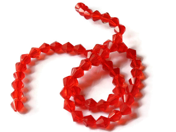 7mm Red Beads Glass Beads Red Bicone Beads Small Beads Spacer Beads Jewelry Making Beading Supplies 7mm Bicones