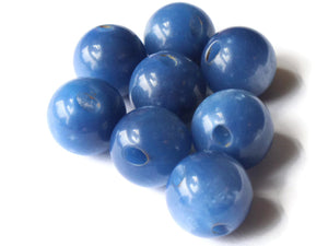 12mm 1/2 Inch Royal Blue Ball Buttons Moonglow Lucite Round Buttons Vintage Lucite Button Jewelry Making Beading Supplies Sewing Supplies