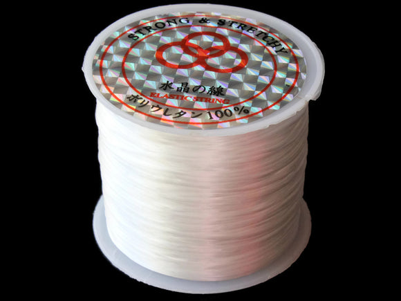 196 Feet Stretchy Cord 0.8mm White Elastic Thread 60 Meters per roll of String Beading Supplies Stretch Elastic Wire Cord Jewelry Making
