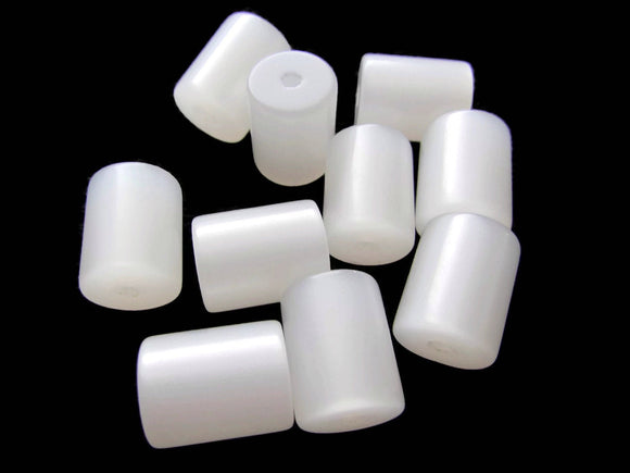 12.5mm White Tube Beads Vintage Lucite Beads Moonglow Lucite Bead Loose Bead Jewelry Making Beading Supplies Lightweight New Old Stock Beads
