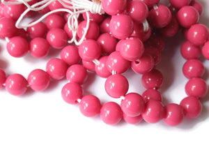 6mm Vintage Pink Beads Plastic Beads 6mm Round Beads 31 Inch Full Strand Ball Beads Acrylic Beads Jewelry Making
