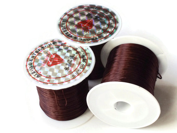 Brown Elastic Cord 0.8mm Brown Elastic Thread 10 Meters per roll of Beading Elastic Wire Beading Wire