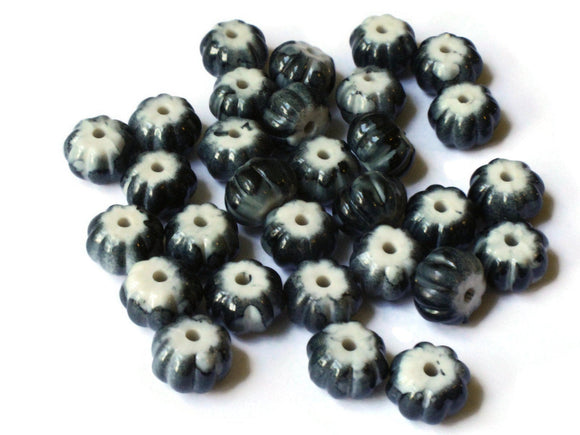 12mm x 8 mm Dark Grey Beads Fluted Rondelle Bead Acrylic Beads Plastic Beads Gray Pumpkin Beads Abacus Beads Jewelry Making Smileyboy