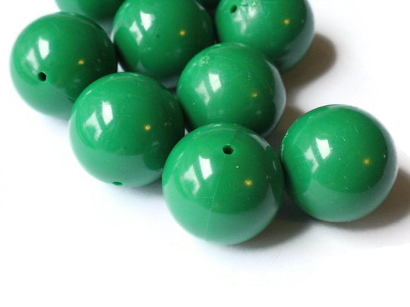 20mm Smooth Round Dark Green Beads Vintage Plastic Beads Jewelry Making Beading Supplies Acrylic Beads Lightweight Sturdy Beads