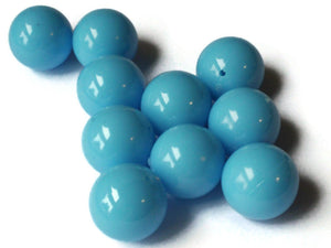 20mm Smooth Round Sky Blue Beads Vintage Plastic Beads Jewelry Making Beading Supplies Acrylic Beads Lightweight Sturdy Beads
