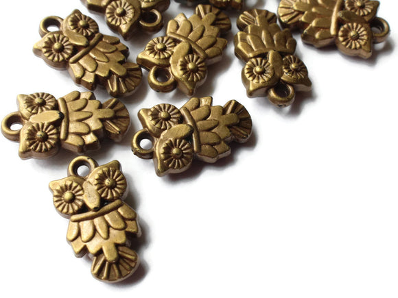 20mm Owl Charms Bronze Tone Plastic Charms Lightweight 2 sided Bird Charms Jewelry Making Beading Supplies Smileyboy Woodland Animal Bead